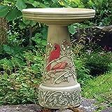 Cardinal Handcrafted Clay Birdbath – Made in the USA...