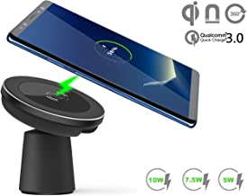 Magnetic Wireless Car Charger, WYNK Car Mount Phone Holder Fast Charging Compatible for iPhone 11/11 Pro/11 Pro Max/XS/XS Max/XR/8 Plus,Samsung Galaxy S10/S10e/S10+/Note 10 and All QI-Enabled Devices