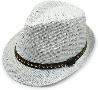 YXSDD Sun Hat, Straw Breathable Hoodie Collapsible Unisex Sun Hat, Summer Outdoor Sun Protection UV Beach Straw Hat, Briti...