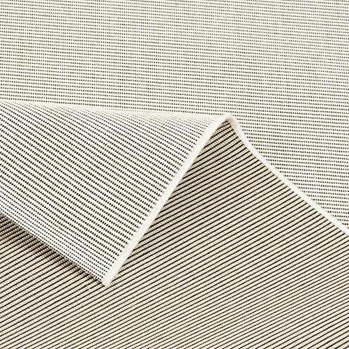 Pergamon Carpetto Uni - Alfombra Interior/Exterior Plana Tejida - Crema Mix - 4 tamaños