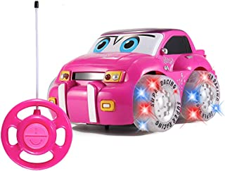 Liberty Imports My First RC Car for Girls - Pink Purple Remote Control 2CH Racer Vehicle for Kids, Toddlers (Race Car)