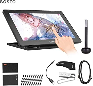 Aibecy 16HDT Portable 15.6 Inch H-IPS LCD Graphics Drawing Tablet Display Support Capacitive Touchscreen 8192 Pressure Level Active Technology USB-Powered Drawing Tablet(Need to Connect to a Computer)