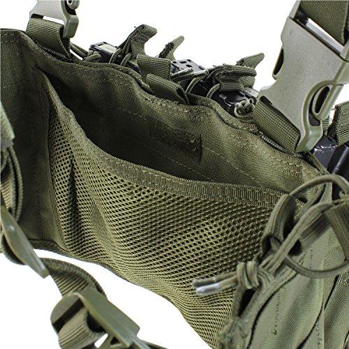 Condor Tactical Combat Recon Chest Rig Vest MOLLE System Airsoft Webbing Black