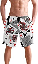 Mens Shorts Casino Playing Card Gym Short Workout Pants for Boys