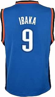 Serge Ibaka Oklahoma City Thunder NBA Blue Official Road Replica Basketball Jersey for Toddler