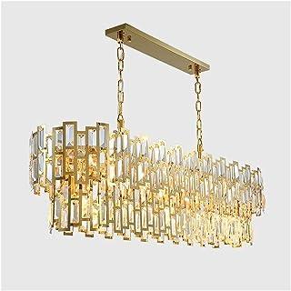 Suspension luminaire Lustre, Ovale, 80 x 26 x 31 cm, Or, Luxueux, Cristal, Lustre, européen, Moderne, Villa, h?tel, Restau...