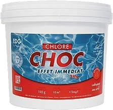 Chlore Choc Piscine - Pastilles 20g - Seau 5kg - Effet Immédiat - Spécial Rattrapage Eaux Vertes - EDG