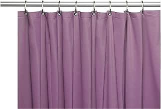 Venice Elegant Home Heavy Duty Vinyl Shower Curtain Liner with 12 Metal Grommets Purple