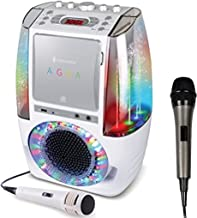 Bundle Includes 2 Items - Singing Machine SML605W Agua Dancing Water Fountain Karaoke System with LED Disco Lights & Microphone, White and Singing Machine SMM-205 Unidirectional Dynamic Microphone