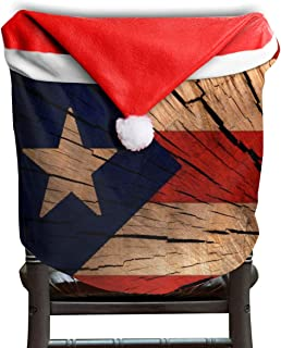Bird Fir Wooden Texture Flag Puerto Rico Christmas Seat Chair Cover Dinner Table Party Home Decor Decorations