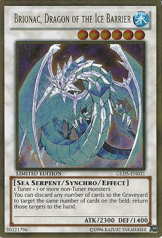 Yu-Gi-Oh! - Brionac, Dragon of the Ice Barrier (GLD5-EN031) - Gold Series: Ha...