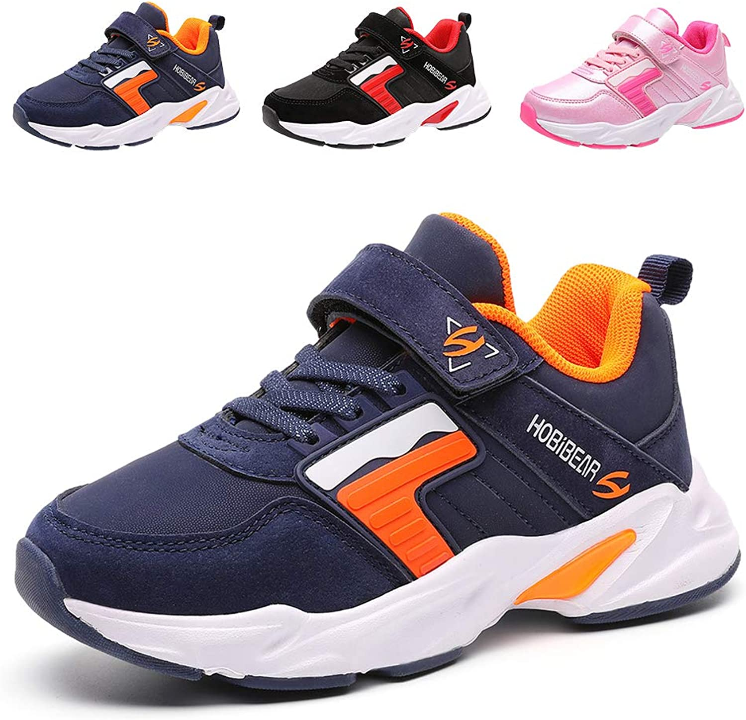 LEXIAODI Kids Sneakers Girls Running shoes Boys Lightweight Athletic Sport shoes Tennis Gym
