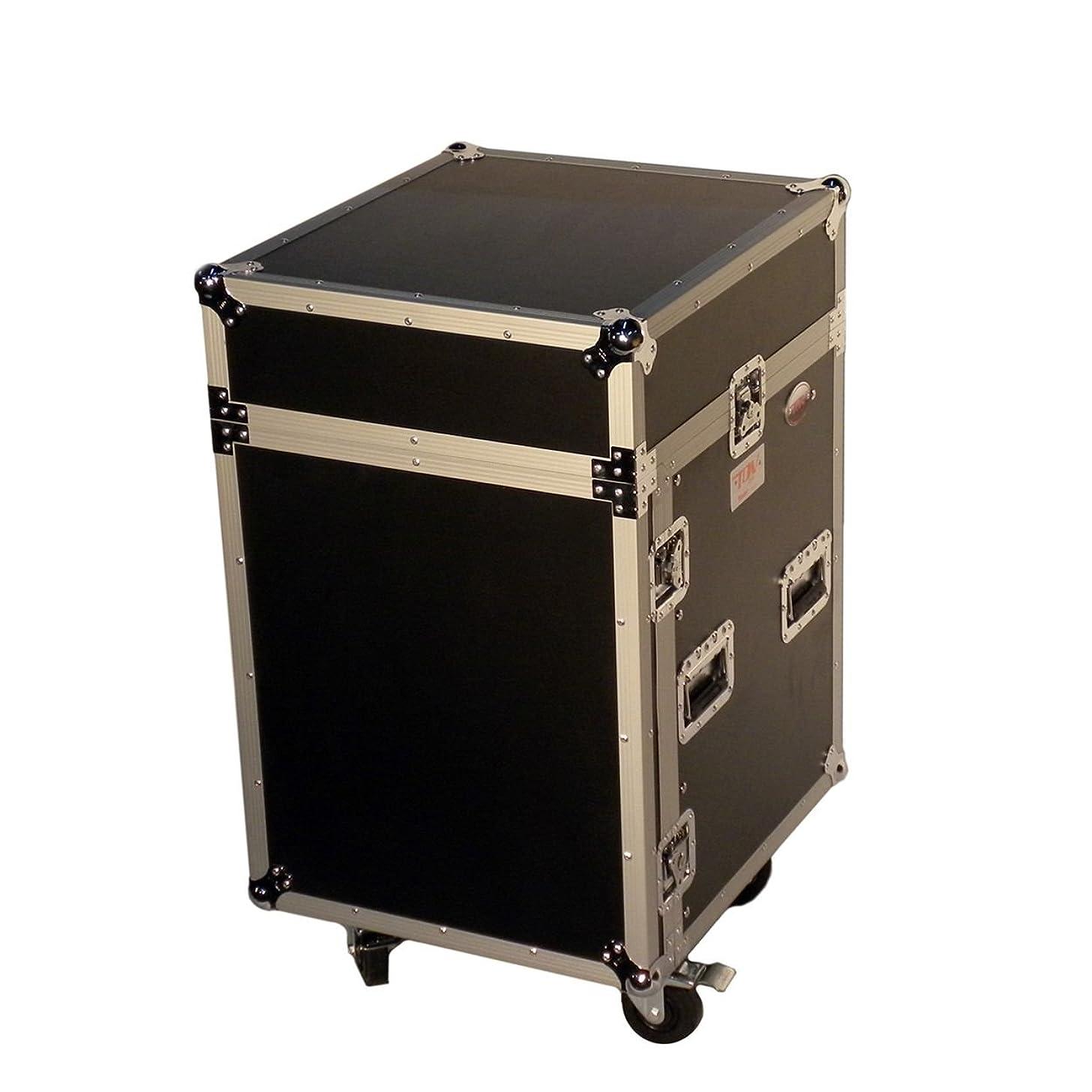 Pro X T-14MRSS 14U x 10U Slant Combo DJ Rack Flight Case w/ 4