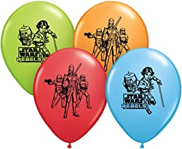 """Qualatex 12"""" Round Latex Balloons Officially Licensed Star Wars Rebels, 6-Count"""