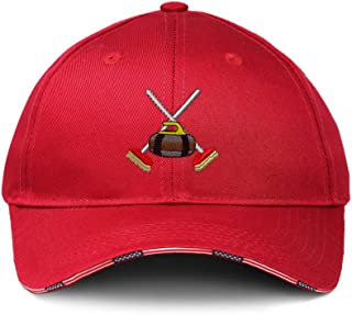 Custom American Flag Hat Sport Curling Gear Logo Embroidery Design Cotton