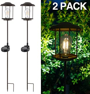 SHOO-IN Solar Light Outdoor, 2 Pcs Bronze Metal Super Bright High Lumen Solar Powered LED Garden Lights for Lawn, Patio, Yard