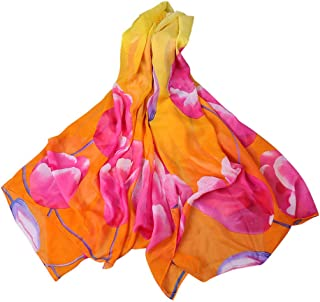 JJHAEVDY Womens Winter Large Scarf Pashmina Floral Pattern Shawl Wrap Long Vintage Travel Vacation Winter Warm Scarves