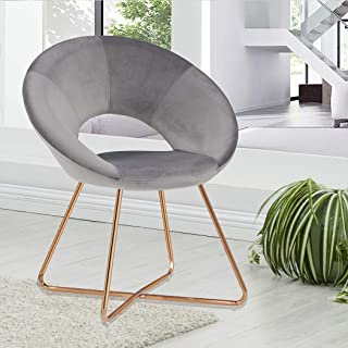 Duhome Accent Chair Home Office Guest Reception Chair Mid-Century Modern Upholstered Leisure Club Dining Chairs Velvet Cushion for Living Room Bedroom Reception Area 1pcs