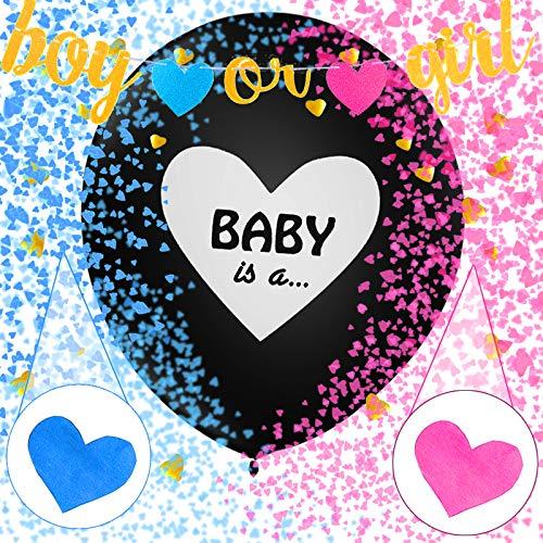 2 Stücke, Geschlecht offenbaren Ballon,Boy or Girl Ballon,Luftballons mädchen oder Jungen,Geschlecht offenbaren Party,Baby Shower Party Dekorationen