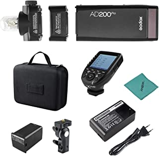 Godox AD200Pro Pocket Flash Portátil inalámbrico TTL Flash con Cabeza de Flash Intercambiable GN52 GN60 1 / 8000s HSS 200W...