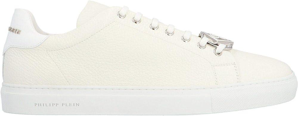 Philipp plein luxury fashion,sneakers per uomo,in vera pelle al 100%,taglia 45 eu MSC2821PLE006N01