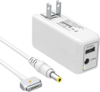 BND 60W Mini Charger for MacBook Pro 13 inch Retina(Made After Late 2012) Magnetic 2 T-Tip MBP Portable Laptop Power Adapter Compact Wall Travel Charger - One Extra USB Port