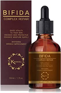 Kranicell Bifida Complex 60% + Galactomyces 30%+ Niacinamide 3% + Hyaluronic Acid 2% Face Ageless Repair Serum 1.7floz with Ceramide for Skin Barrier. Dual Functions of Total Anti Aging and Whitening