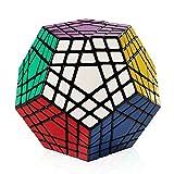 Coogam Shengshou 5x5 Megaminx Cube Gigaminx Speed Cube Puzzle Toy Black