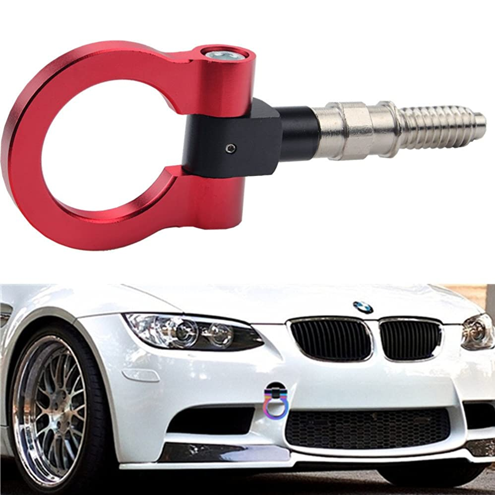 検査考えた手順JUDING 牽引フック M16 x P3 フロントリア 可倒式 脱着式 BMW Mini Cooper レッド