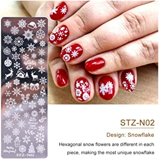 DAWEIF 1pc Nail Templates Geometry Flower Leaf Animal Designs Manicure Stencils Stainless Steel Tool 124cm