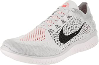 Nike Free Rn Flyknit 2018 Sz 12 Mens Running Pure Platinum/Black-White-Wolf Grey Shoes