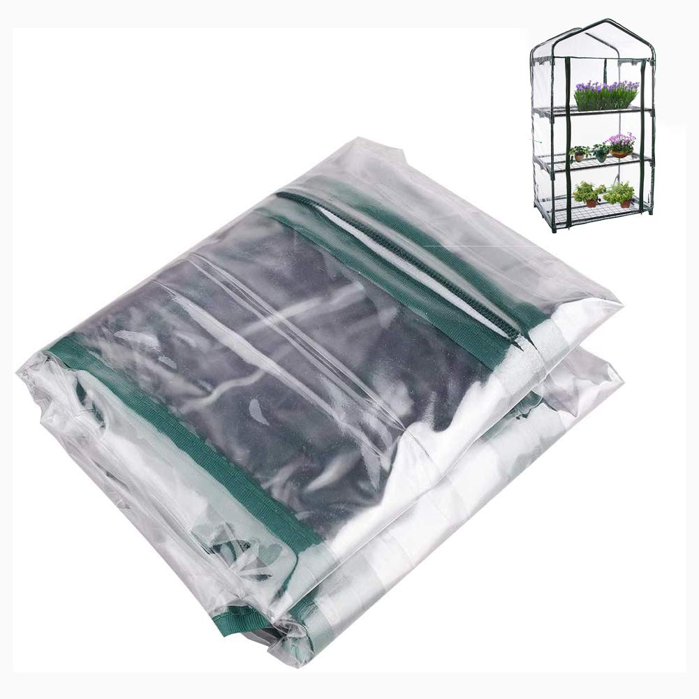 Small Plant House//Grow House Cover for Garden and Outdoors 3 Tier Mini Clear Greenhouse Replacement Cover 3 tier