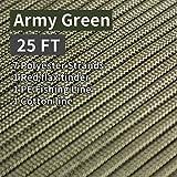 PSKOOKNew Paracord Fuegos Starter Cord La CuerdadeParacaídasdeNailonpara Kit de Supervivencia FireCordcon Yute Encerada la línea de Pesca y el Hilado de algodón(Army Green)
