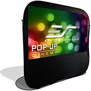 Elite Screens Pop-up Cinema Portable Outdoor Fast Folding Projector Screen Self Standing 92-inch 16:9 Ultra Light Weight M...