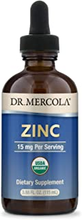 Sponsored Ad - Dr. Mercola Liquid Zinc Dietary Supplement, 15 mg per Serving - About 28 Servings per Container (3.88 fl oz...