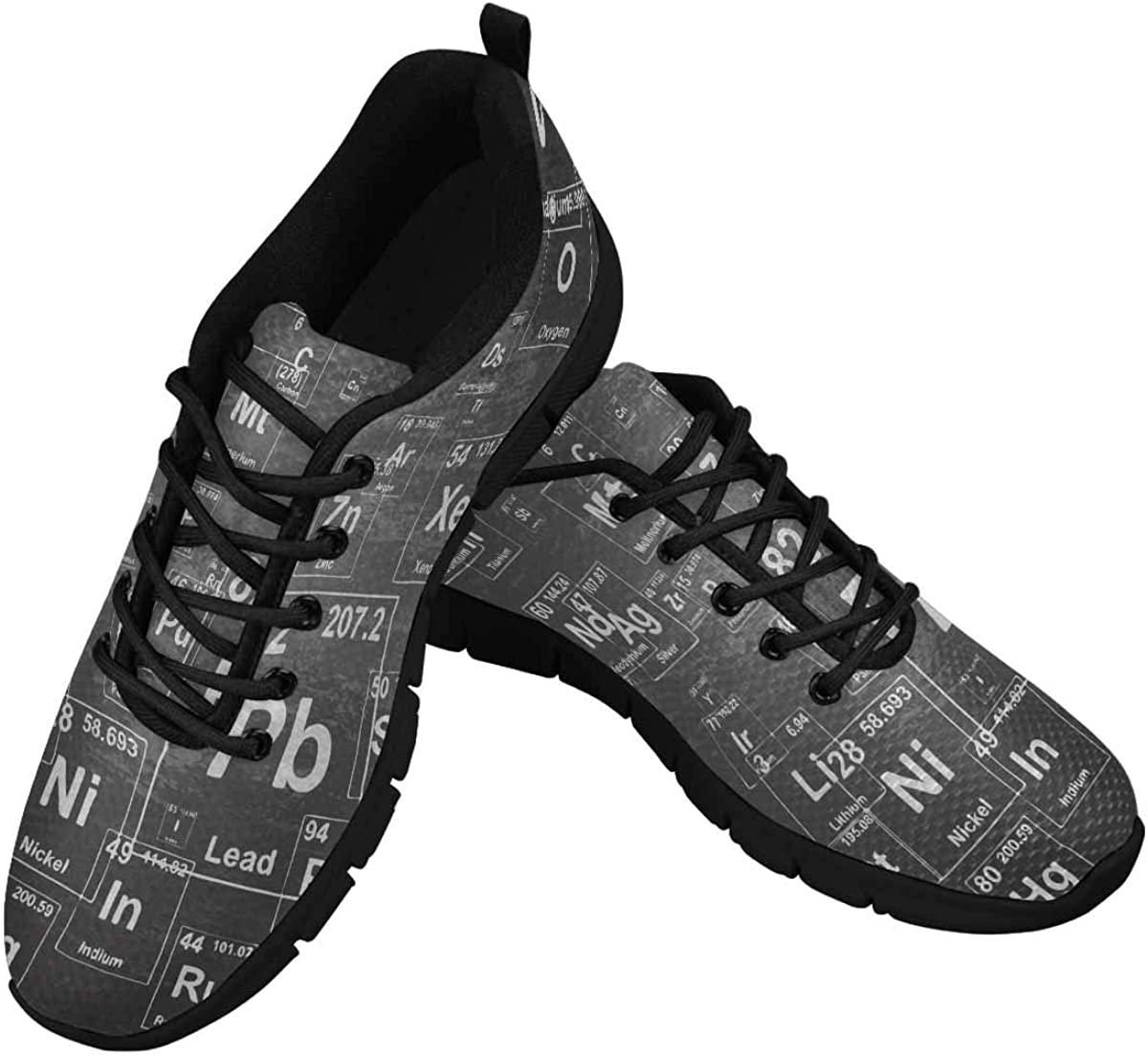 INTERESTPRINT Chemical Elements Women's Lightweight Athletic Casual Gym Sneakers