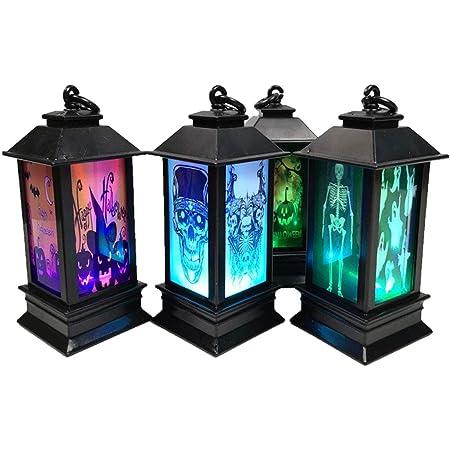 【 4個セット 】monoii ハロウィン 装飾 LED 置物 Halloween 飾り ランタン ハロウィングッズ ランプ 飾り付け d870