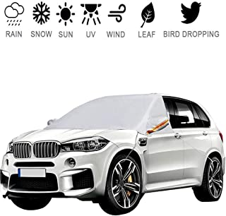 Meddom Car Windshield Cover, Windshield Cover for ice and Snow with 3 Layer Protection,Snow, Ice, Frost,Scratch, and UV All-Weather Protection, Car Window Snow Cover Fits All Cars, SUV
