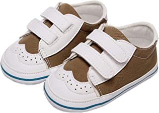 Baby Boys Girls Patchwork Sneakers Soft Sole PU Leather Crib Shoes Anti-Slip Infant Prewalker (Baby Age : 12-18 Months, Co...