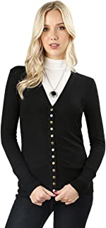 Cardigans for Women Long Sleeve Cardigan Knit Snap Button Sweater Regular & Plus