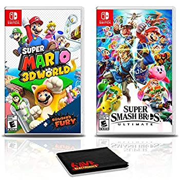 Super Mario 3D World + Bowser s Fury Game Bundle with Super Smash Bros Ultimate - Nintendo Switch