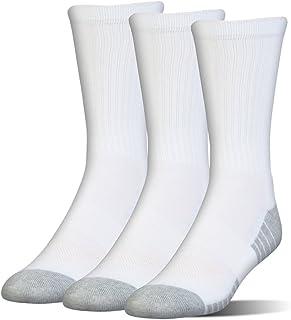 Under Armour Boy's Heatgear Tech Crew Socks 3-Pair (Toddler/Little Kid/Big Kid) White MD (8.5 Toddler - 13.5 Little Kid)
