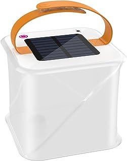ソーラーランタン - ATiC 太陽光発電式正方形LEDランタン 防滴可能 明かさ調整可能 SOSモード機能付き 2.5cmまで收納でき アウトドア用(登山・ハイキング・キャンプ・夜釣り)・在宅用・緊急用(停電・災害)などにお勧め