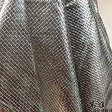 Meterware als Dekostoff- Webmuster Metall Leder Kunstleder
