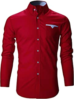 parth fashion Men's Cotton Casual Shirt for Men Full Sleeves