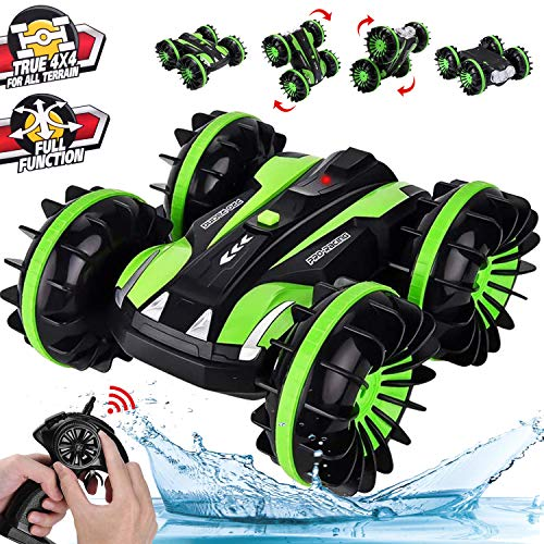 HOMOFY RC Cars Toy for 4-12 Year Old Boys Amphibious Remote Control Car Boat for Kids 2.4 GHz Rc Stunt Car 4WD Remote Control Vehicle All Terrain Waterproof Truck Toys for Girls Boys Birthday Gifts