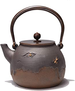Q-HL Théières En fonte japonaises théière Théière en fonte, bouilloire à thé Tetsubin de style japonais, 1,4 L |Bouilloire...