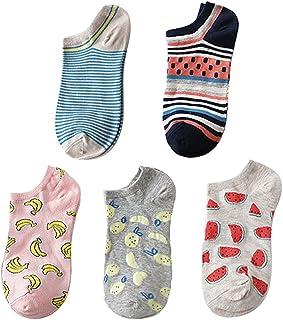 5 Pares Mujer Calcetines Algodón Calcetín de tobillo Corte Bajo Calcetines