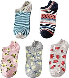 Hombre Mujer Calcetines de Divertidos Ocasionales con Estampados de Perro Calcetines de Colores de Moda Regalos de Cumplea/ños Unisex Suave MYONA Pack de 5 Calcetines de Algod/ón Dibujos Animados