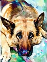 (24x34cm)Animal German Shepherd Dog Pet Customization Diamond Painting,Cross Stitch,5D DIY Diamond Embroidery,3D,Diamond Mosaic,Christmas